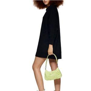 TOPSHOP Long Sleeve Mini Sweater Dress black